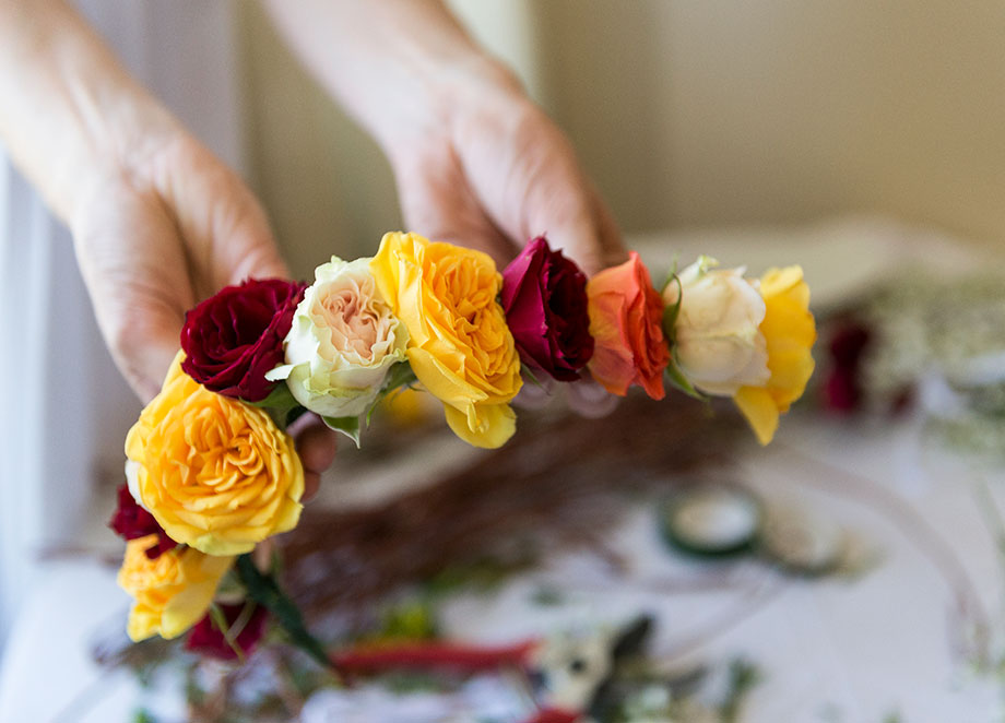 A Crowning Event Flower Crowns at the Swissotel Chicago.
