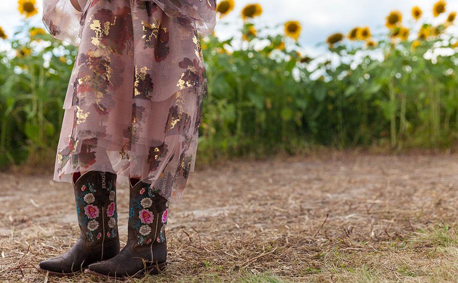 Girls Christian Dior cowboy boots.