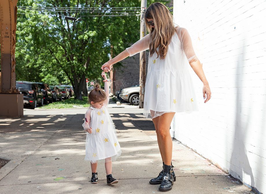 Mommy and me dresses from Lola and the Boys and preparing for the solar eclipse.