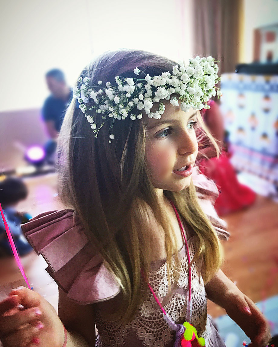 Flower crowns with a Crowning Event.