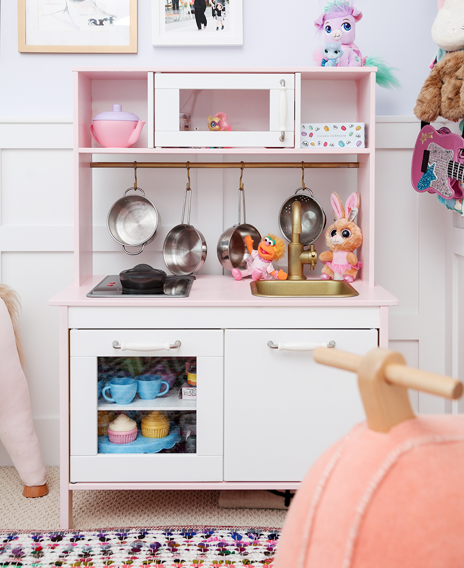 An IKEA Hack for a toddler kitchen.