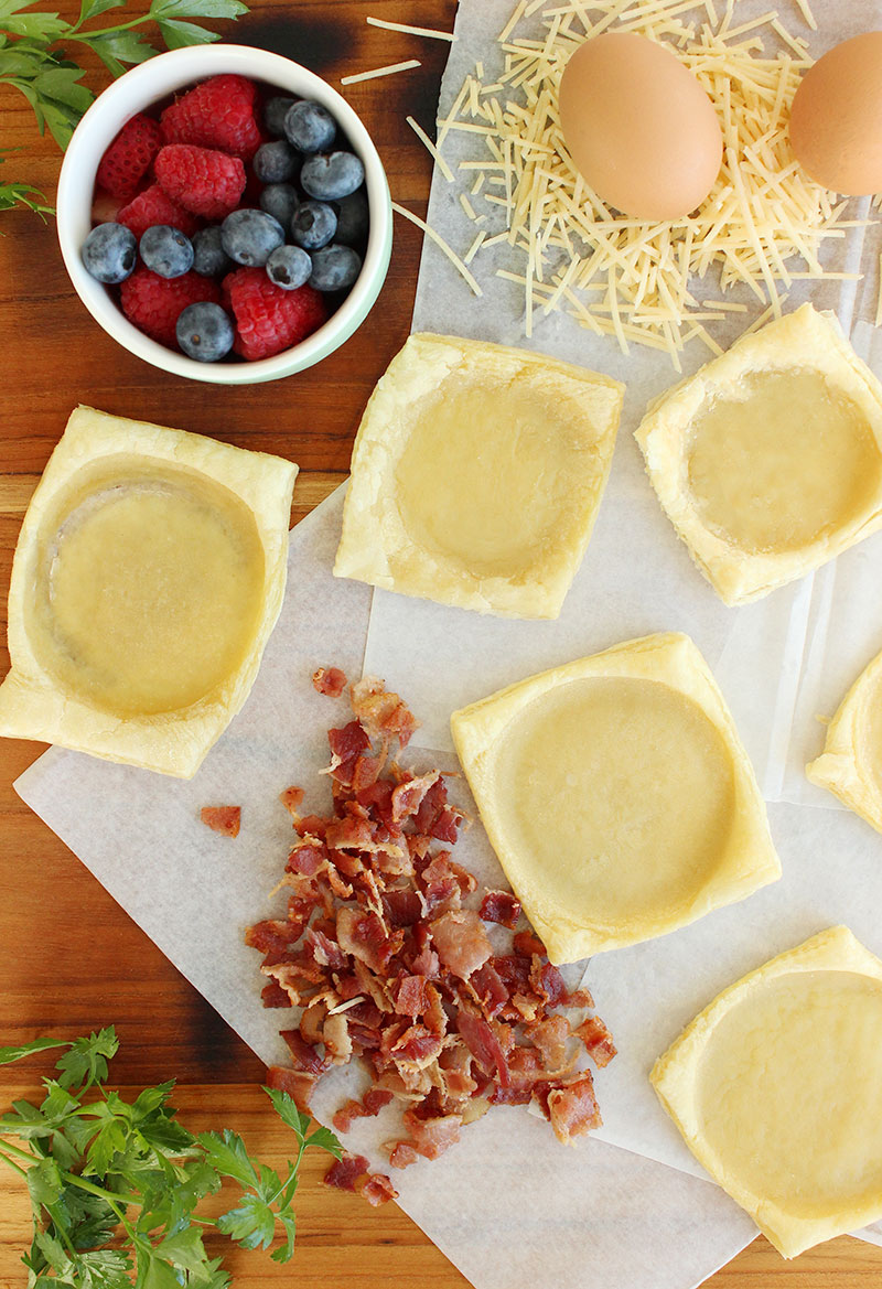 How to make breakfast tarts with farm raised eggs.