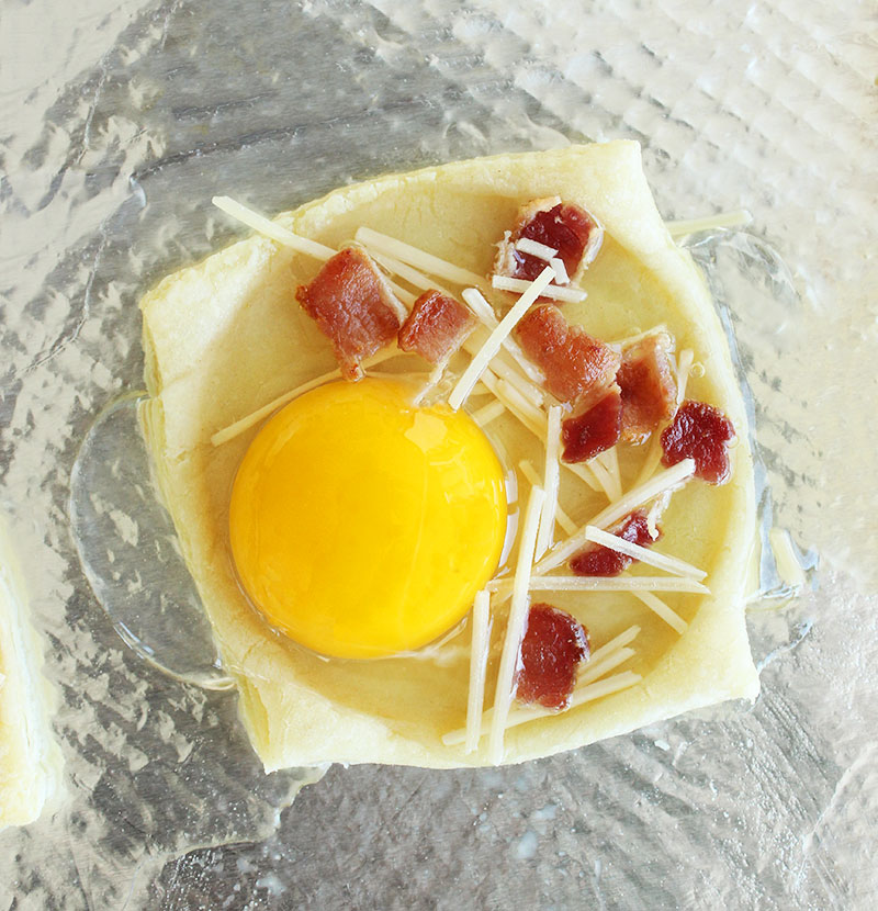 Pasture raised eggs and bacon.
