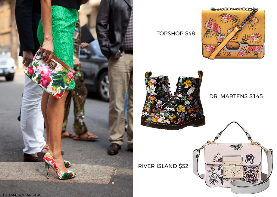 How to Wear Floral Accessories for Fall.