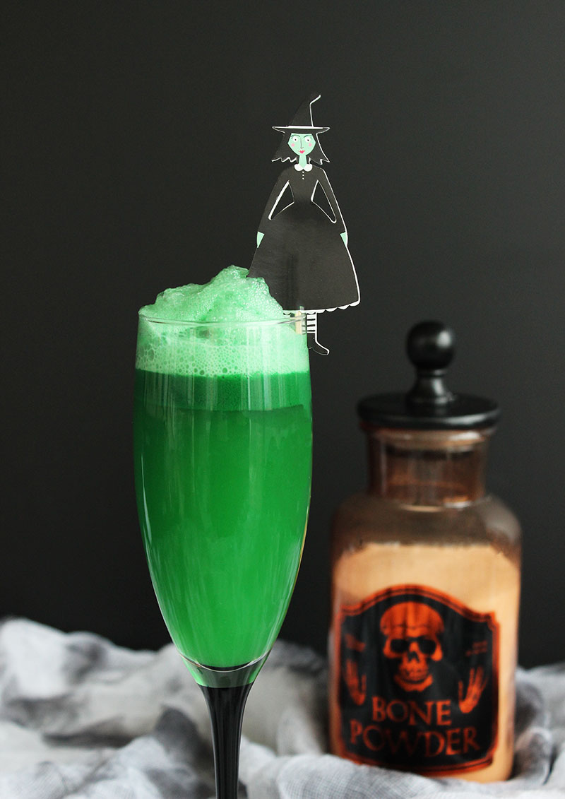 A kid-friendly non-alcoholic Halloween recipe for Witch's Potion Punch.