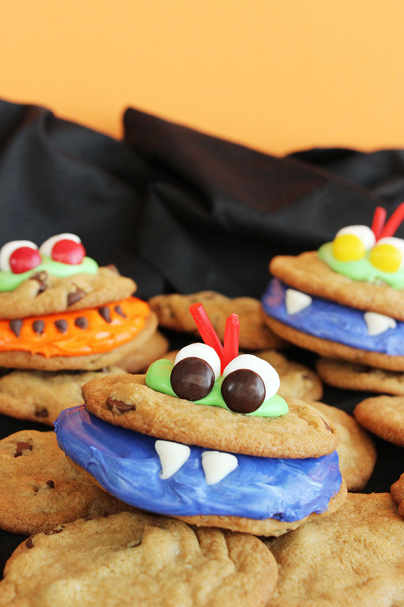 scary monster cookies   glitter and bubbles halloween