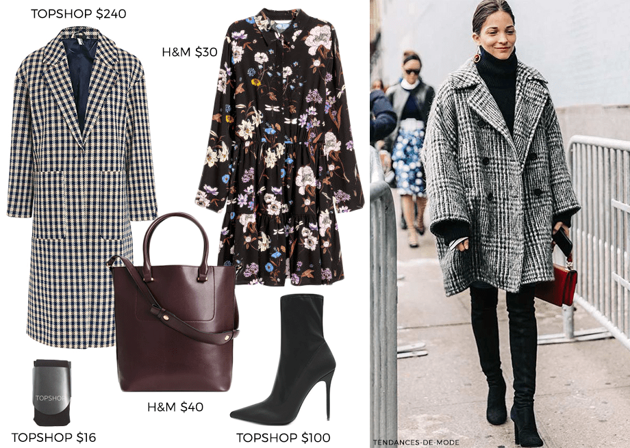 How to Wear Oversized Coats: Prints & Patterns