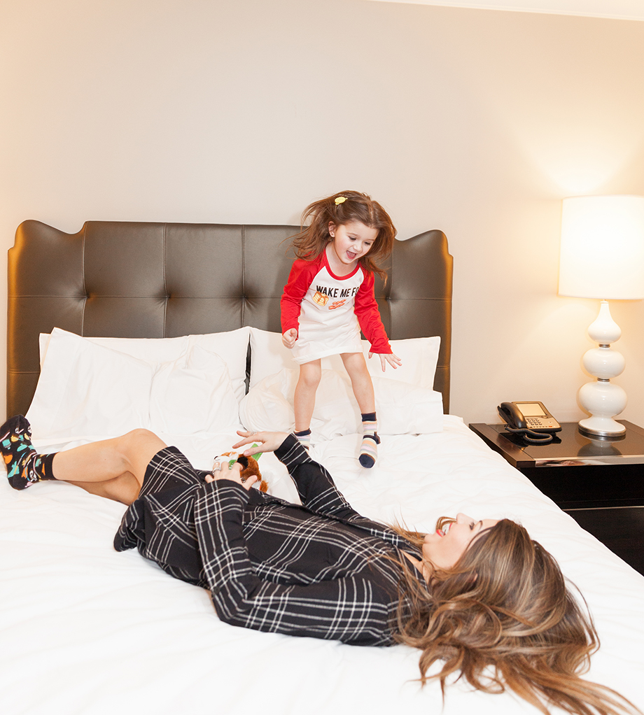 A mother daughter sleepover at the Waldorf Astoria Chicago.