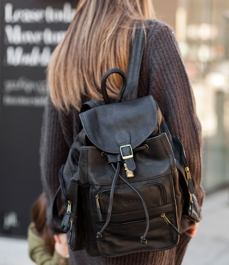 The perfect backpack: the Clava monogrammed leather backpack.