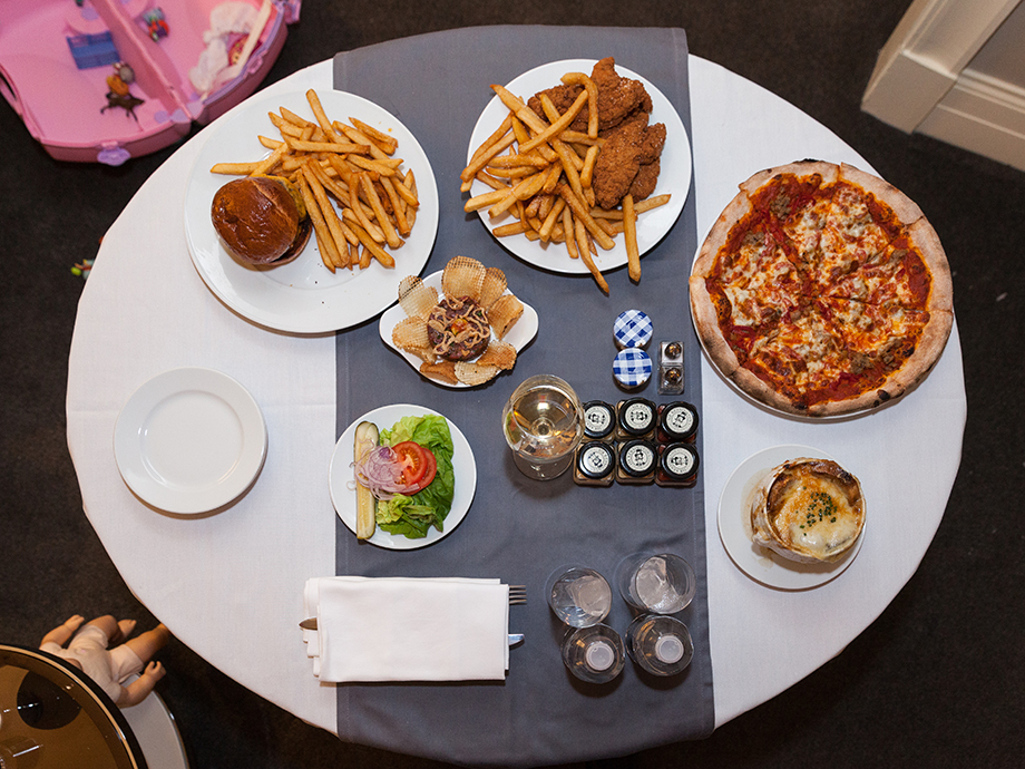 Kid-friendly room service at the Waldorf Astoria Chicago.