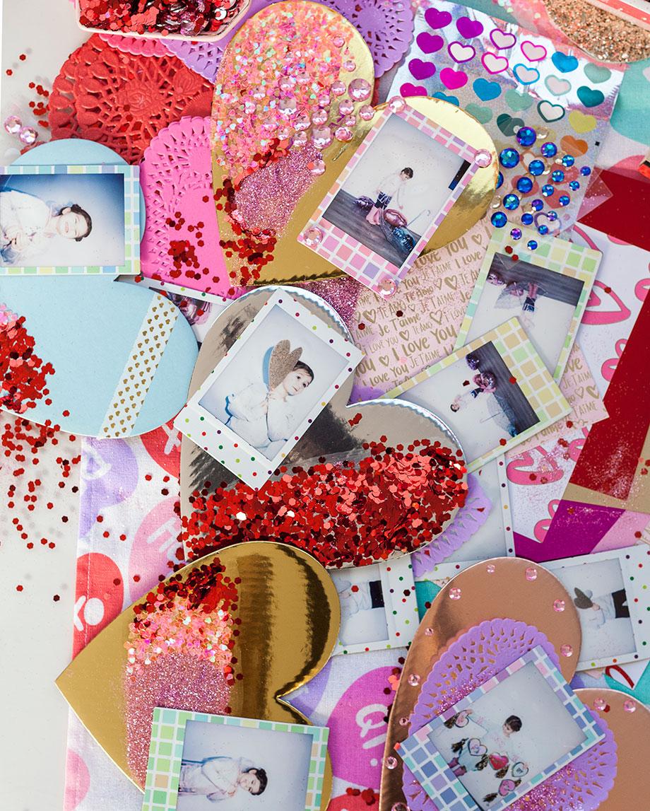Polaroid valentines for Valentine's Day love notes.