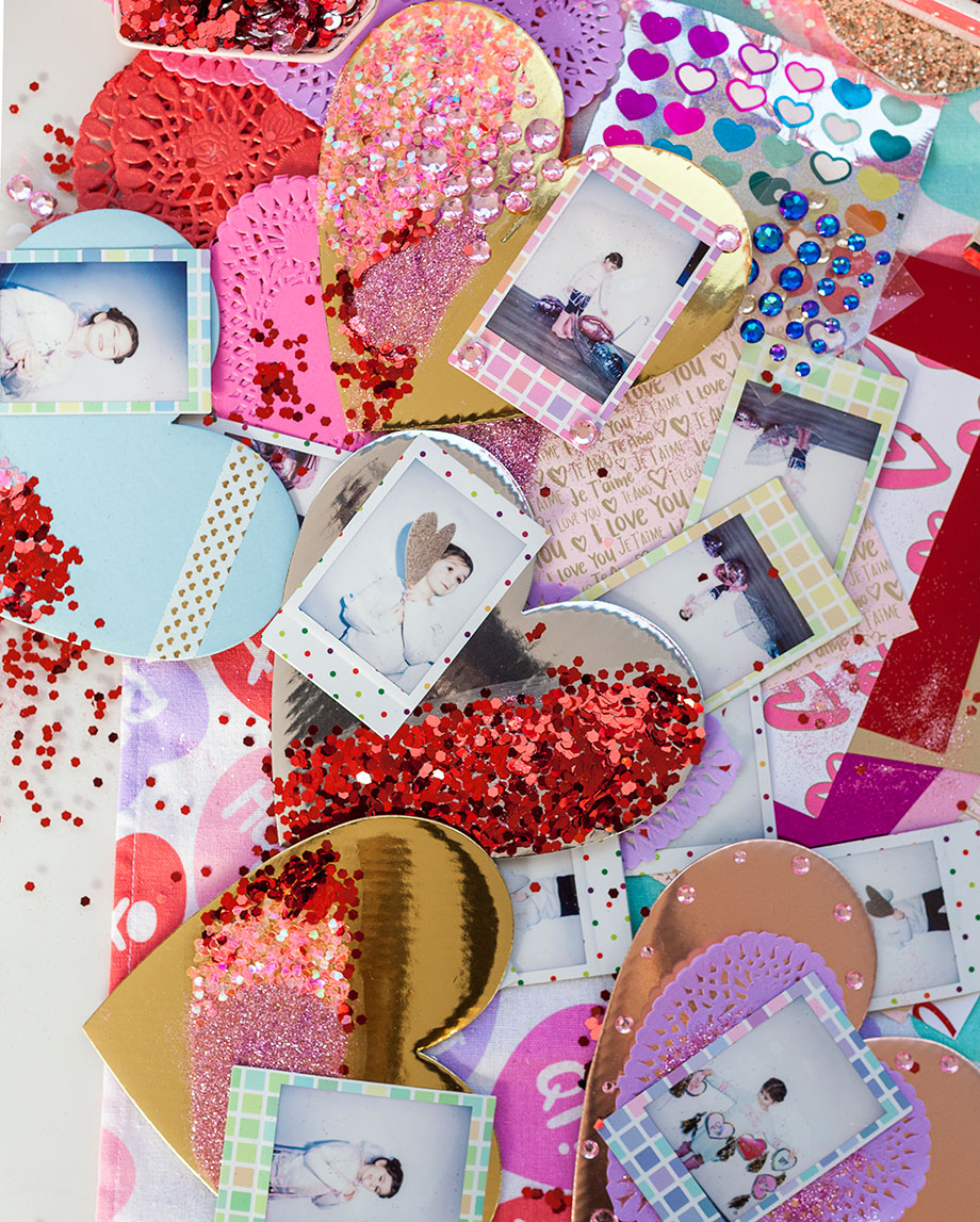 Polaroid valentines for Valentine's Day love notes.