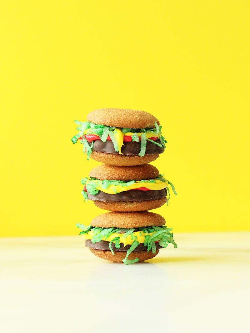 How to make hamburger cookies on National Hamburger Day.