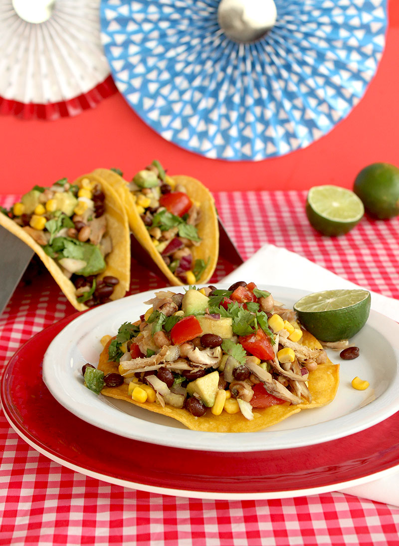 How to make Deep Fried Cowboy Caviar Tacos with Mission Corn Tortillas for 4th of July.