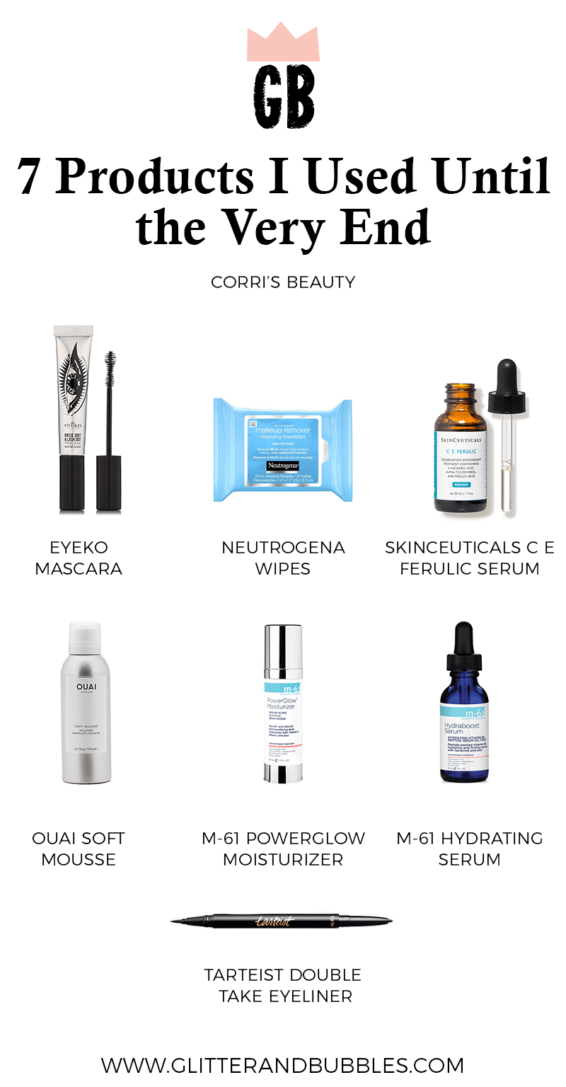 Seven beauty products Corri McFadden used until the very end.