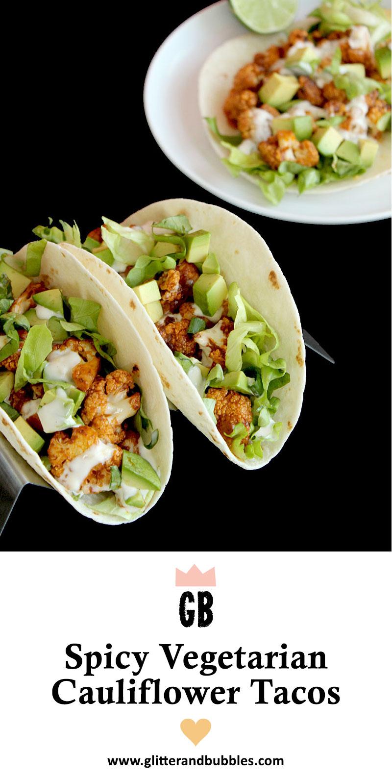 An easy vegan recipe for spicy cauliflower tacos.