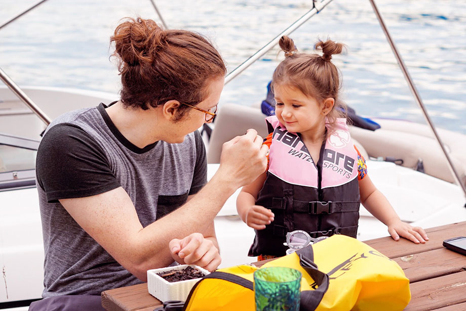 The importance of lake safety this summer with Glitter and Bubbles.