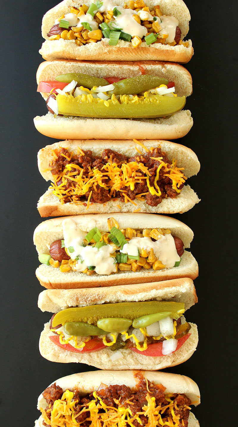 The best hot dog recipes by Corri McFadden and Glitter and Bubbles.