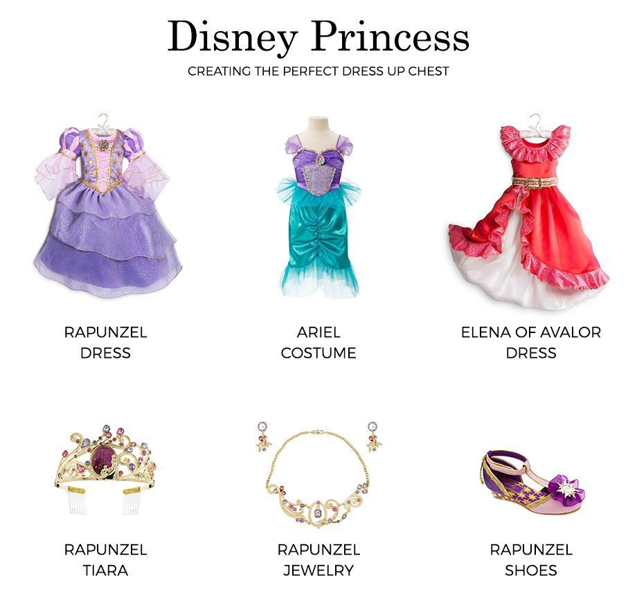 See which Disney Princess costumes Zelda of Glitter and Bubbles has in her dress up chest.