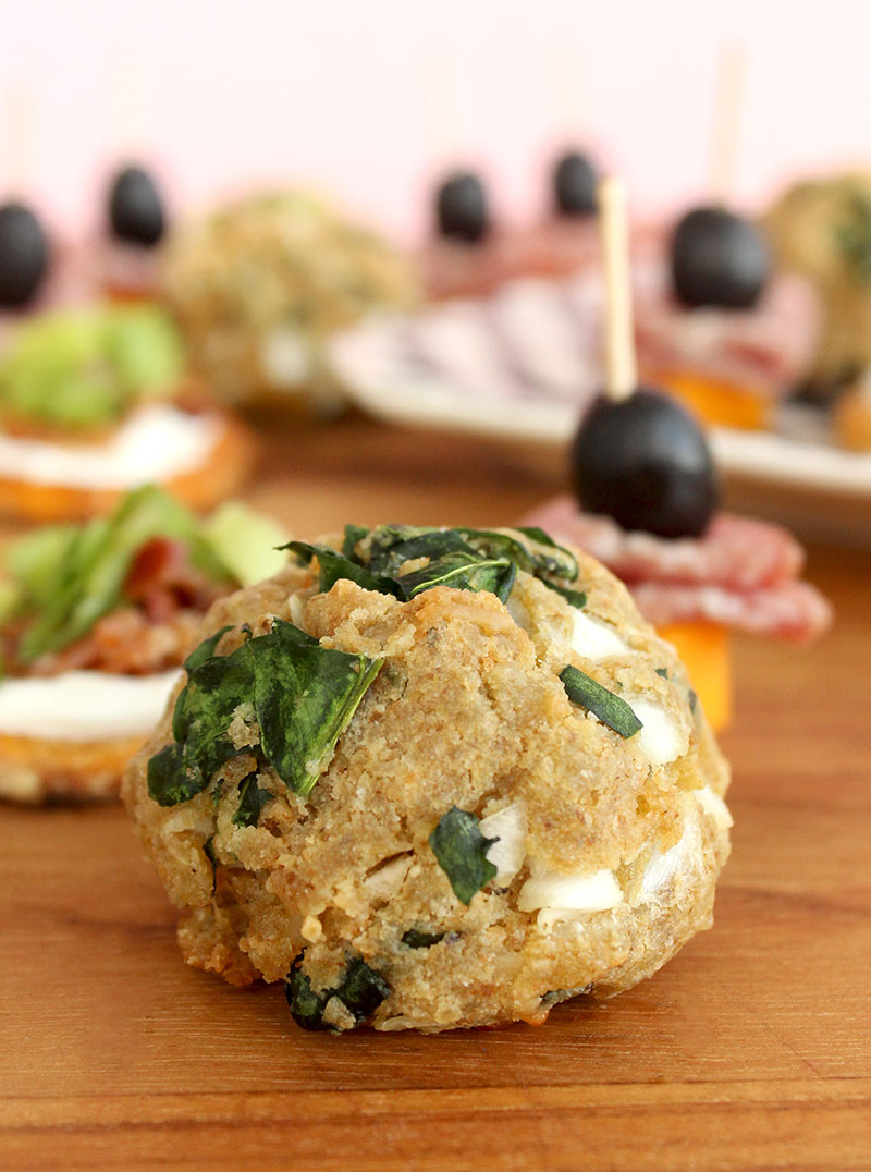 An easy recipe for spinach balls on Glitter and Bubbles.