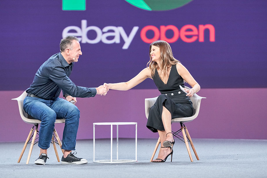 Corri McFadden attends the eBay Open to chat with the CEO.
