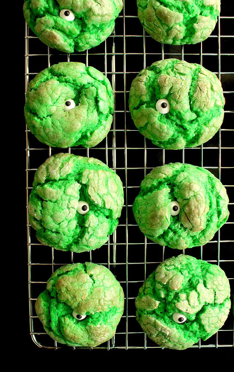 Delicious One-Eyed Monster Cookies that taste like cake.