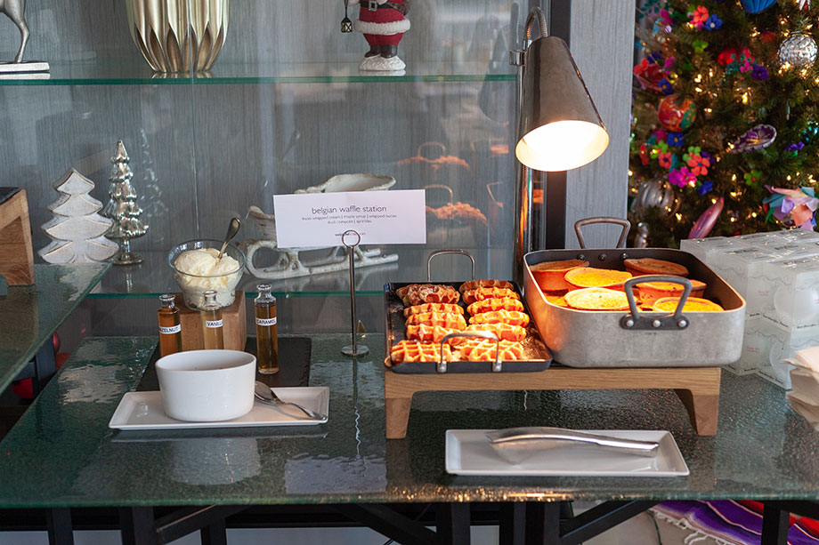 Breakfast is served with Santa at the Swissotel.