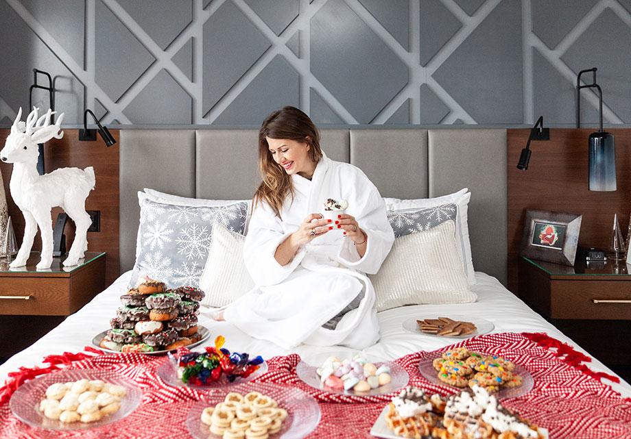 Breakfast in bed at the Swissotel Santa Suite.