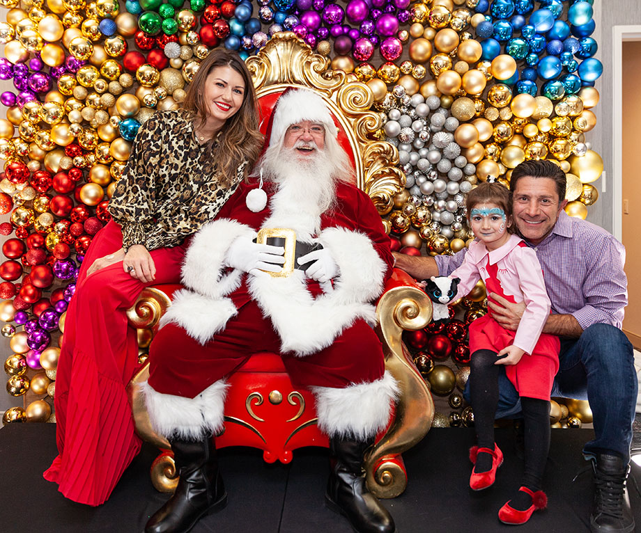 Corri McFadden and her family visit the Swissotel Santa Suite.