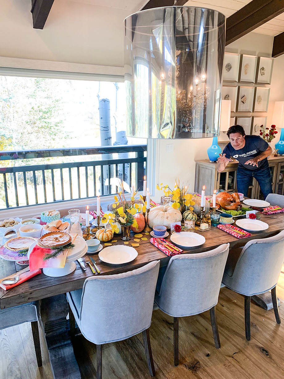 Corri McFadden and her family get ready for Thanksgiving with Boston Market.