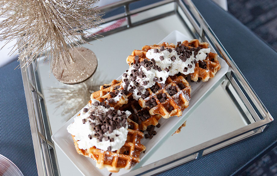 Chocolate waffles at the Swissotel.