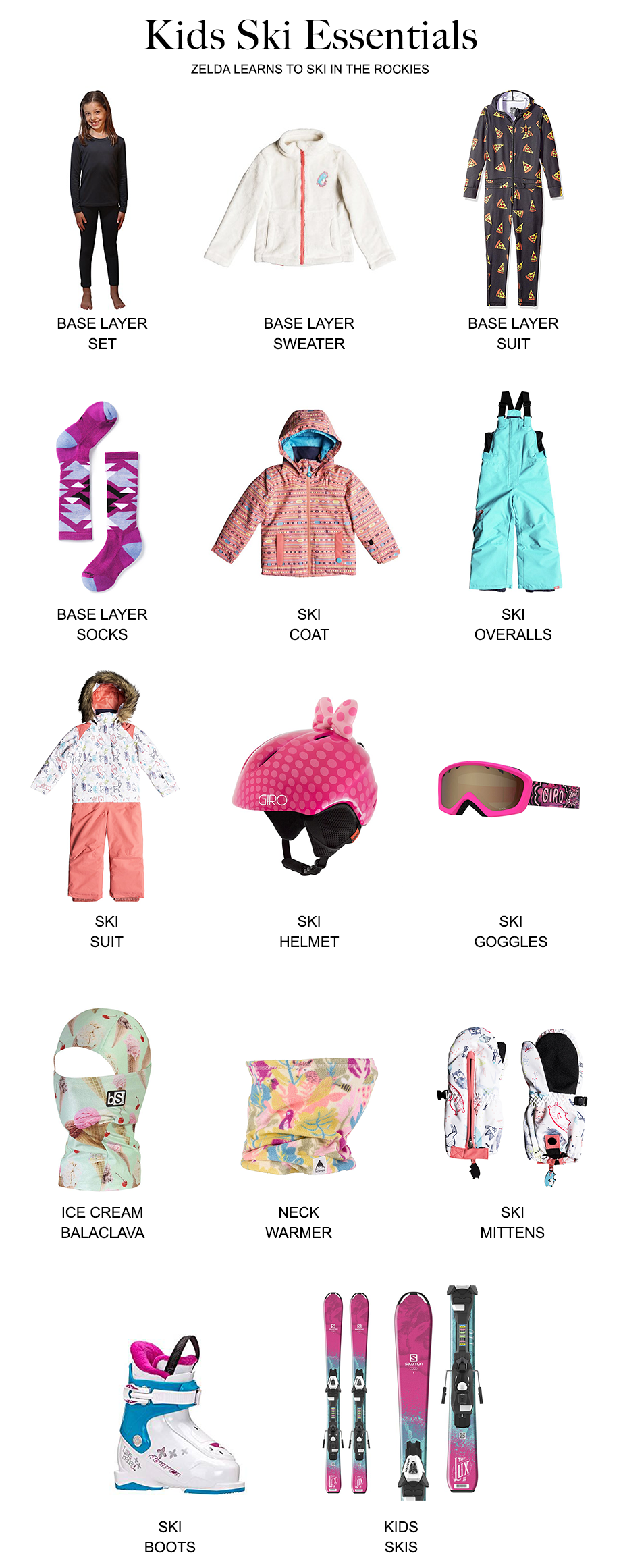 What your child should wear when they learn how to ski.