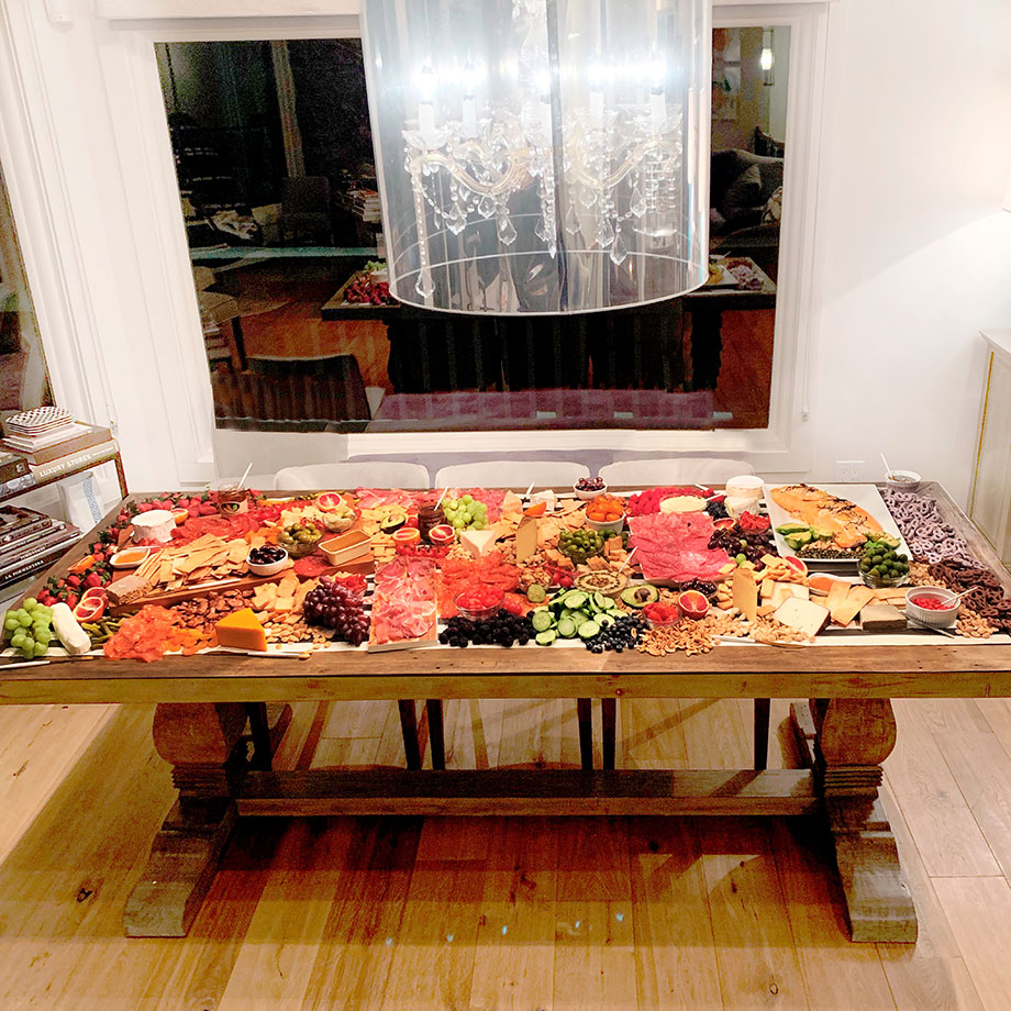 How to feed a large group at a party with a charcuterie table.