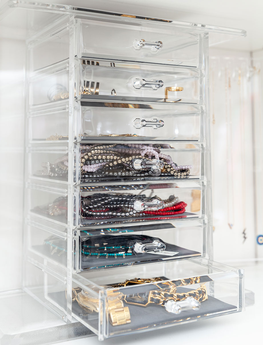 How to store necklaces so they won't tangle.