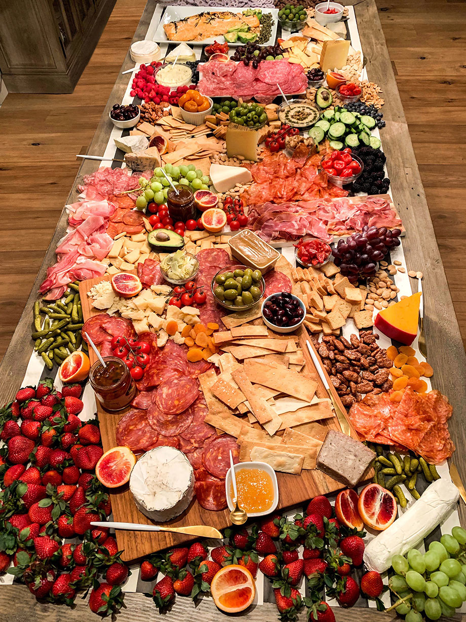 The ultimate meat and cheese charcuterie table.