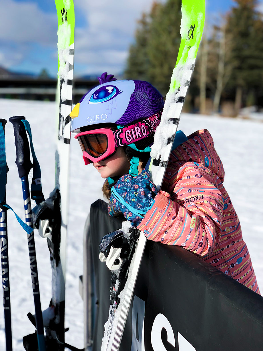 Zelda of Glitter and Bubbles hits the slopes in Aspen.