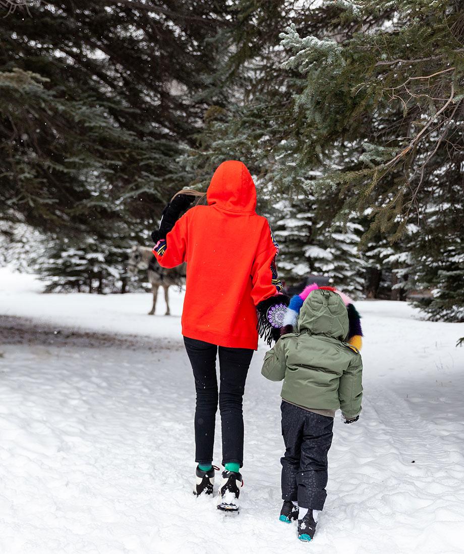 Corri McFadden and Zelda explore Aspen, Colorado.