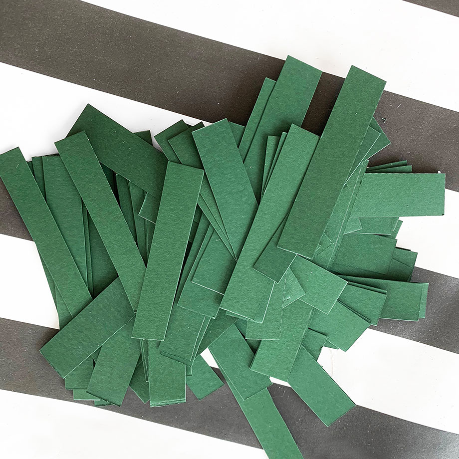 A kids project with construction paper.