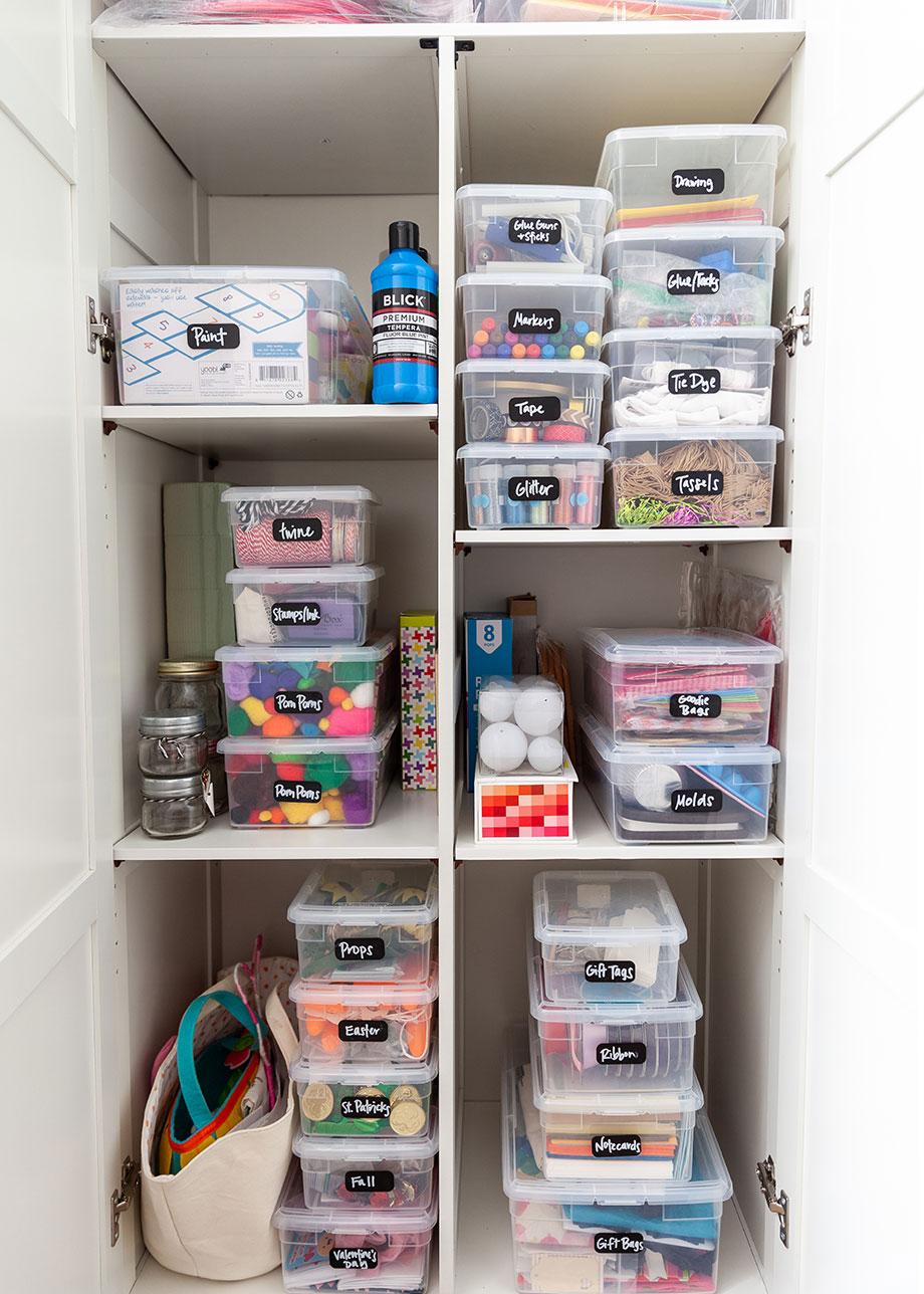 How to organize your craft storage closet with Corri McFadden.