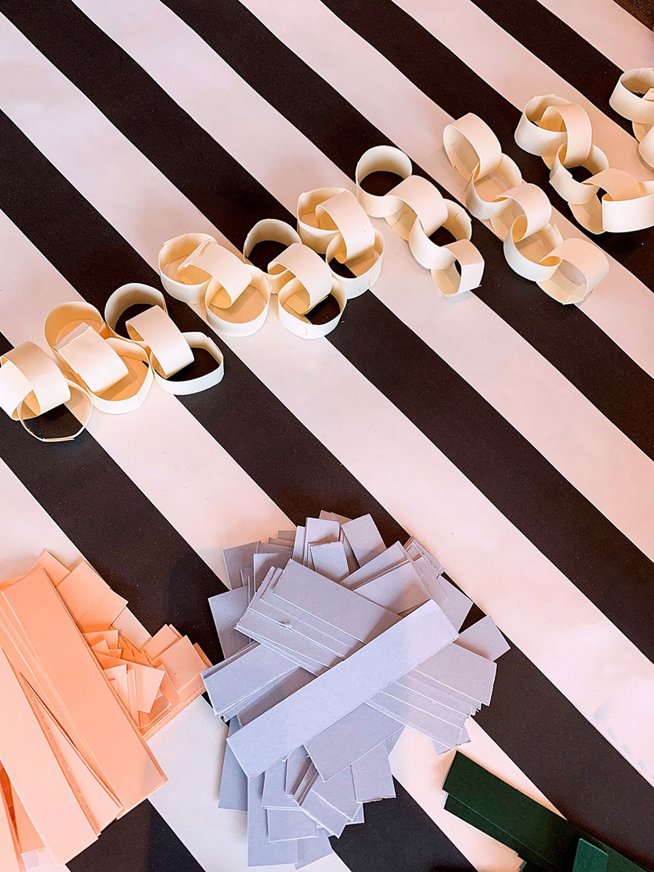An easy DIY project for paper chains.