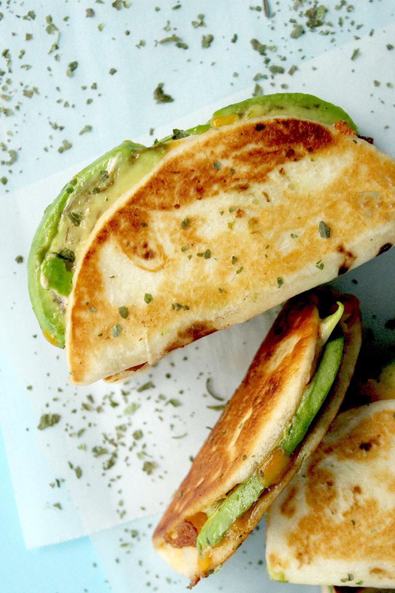 Delicious quesadillas on Glitter and Bubbles.