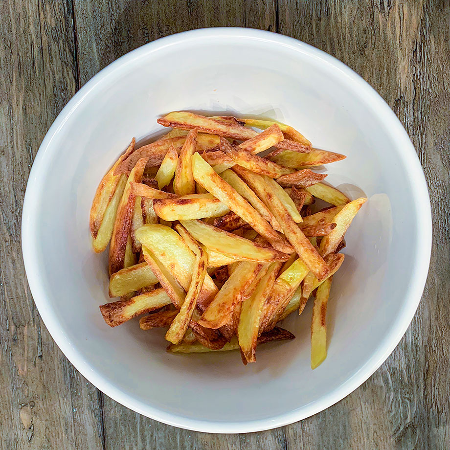 How to make handout French fries at home with Glitter and Bubbles.