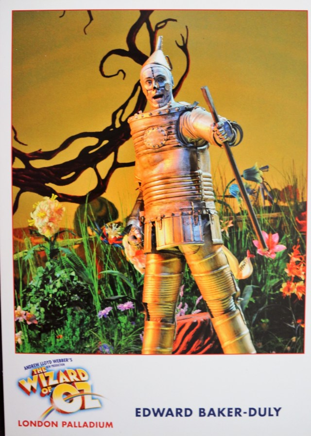 Edward Baker-Duly as Tin Man in Wizard of Oz