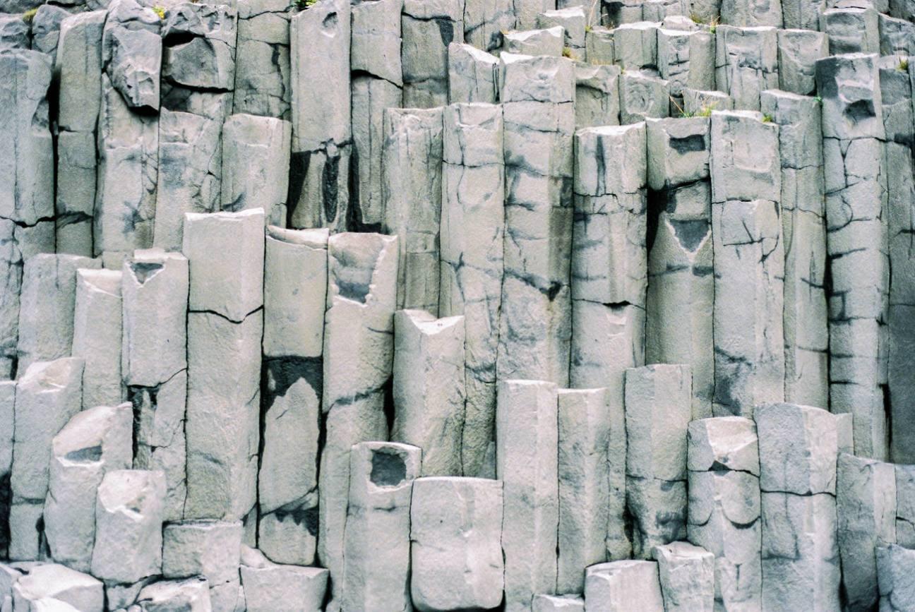 Reynisfjara mesmerizing stone walls.