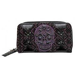 Loungefly Purple Sugar Skull Wallet