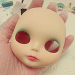 Pinky Blythe Custom Faceup – Progress Pictures