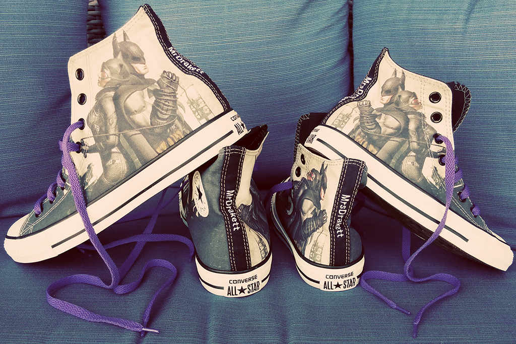 Wedding Converse - Batman & Catwoman