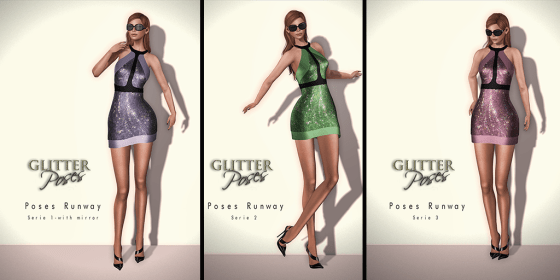 Glitter Poses Runway Seires 1 2 3 AD
