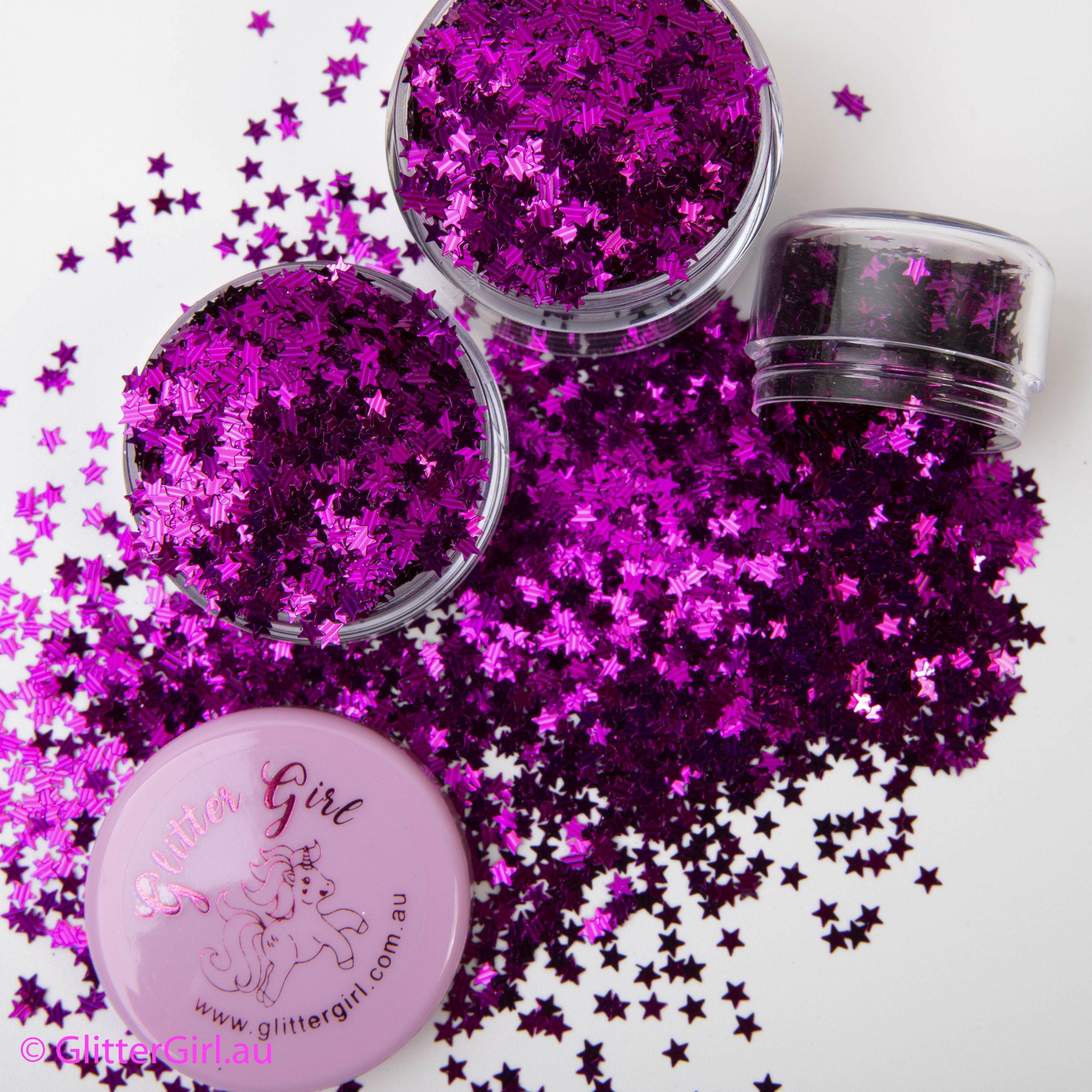 Pink Stars Eco Glitter Glitter Girl gold Coast