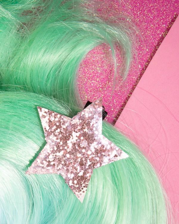 Glitter star hair clip glitter girl teens accessories